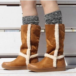 Suede Fur Trim Winter Boots
